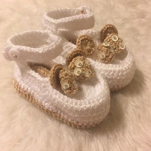 Other - Crochet Baby Girls Shoes